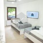 Monteurzimmer-Sinsheim-K3_EG_Zimmer1 mit Smart TV